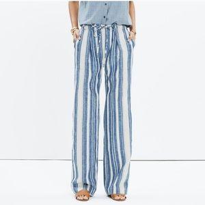 Madewell Lawndale Striped Wide Leg Pants Size xs